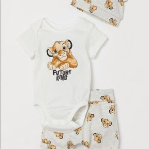 New H&M Lion King 3-Piece Jersey Set - 0 to 3M